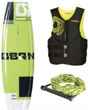 Wakeboardpaket: Obrien System Wakeboard med Obrien Clutch Wakeboardbindningar, Obrien Traditional Flytväst och Obrien 2-Section Wakeboardlina