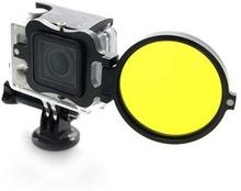 NEOpine Adapter med Gult Dykkerfilter til GoPro Hero 3+ og Hero 4