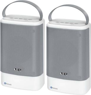 AEG Bluetooth høyttalere BSS 4833 2 stk hvit og grå