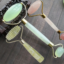 3 Style Natural Jade Beauty Massage Roller Facial Slimming Tool Face Arms Neck Massage Roller for Face Body Massage