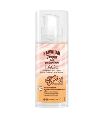 Hawaiian Tropic Silk Hydration Air Soft Face Sun Lotion SPF 30 50 ml Hvit