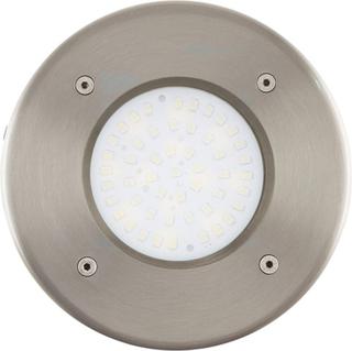 EGLO LED-nedbygningsspot til udendørs brug Lamedo 2,5 W rund sølv 93482