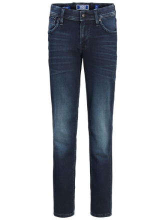 JACK & JONES Indigo Knit Boy's Slim Fit Jeans Men Blue