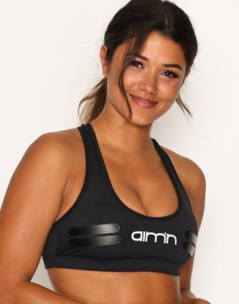 Aim'n Black Tribe Logo Bra