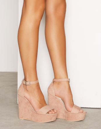 High Heel - Dusty Pink NLY Shoes Wedge Sandal