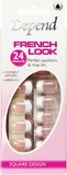 Depend French Look Nails - Long Square Design Lösn