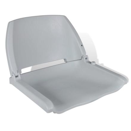 vidaXL Båtstol med Sammenleggbar Ryggstøtte uten Pute Grå 41 x 51 x 48 cm