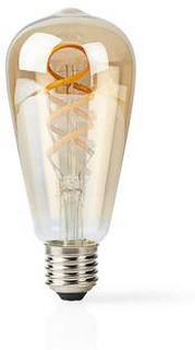 Nedis LED-lampa med Wi-Fi och varmvitt till kallvitt sken | Vriden | E27 | ST64 | 5.5 W | 350 lm