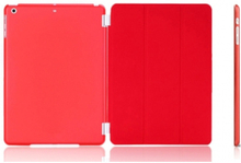 iPad Mini Smart cover til for-and bagside med klar bagside. Rød.