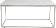 Accent soffbord 110 - Vit marmor