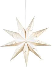 Markslöjd Solvalla stjerne, 75 cm, E14, hvit