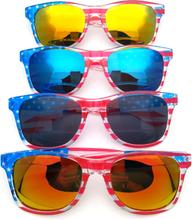 American America USA Flag Sonnenbrillen Patriotic Clear Frame Classical 80s