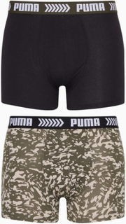 Puma Puma Basic Boxer Abstract Camo Print 2P Boxershorts Svart/Grønn