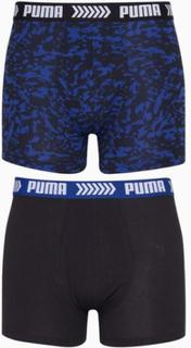 Puma Puma Basic Boxer Abstract Camo Print 2P Boxershorts Blåsvart