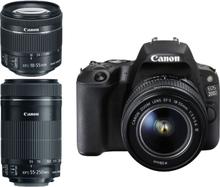 Canon EOS 200D Twin kit mit 18-55 IS STM und 55-250mm IS STM Objektiv SLR-Digitalkamera Gehäuse