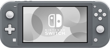 Nintendo Switch Lite - Grau with Generisch Portable Protective Case (Schwarz) and Hartglas Displayschutzfolie