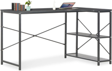vidaXL computerbord 120 x 72 x 70 cm sort