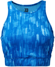 Better Bodies Manhattan Halter, bright blue, large Linnen dam