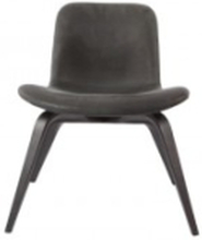 Goose Lounge Chair - Leather: Frame-Black Leather-Vintage Leather-Anthracite 21003