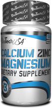 BioTech USA Calcium Zinc Magnesium, 100 tabletter, BioTech USA Vitaminer & Mineraler