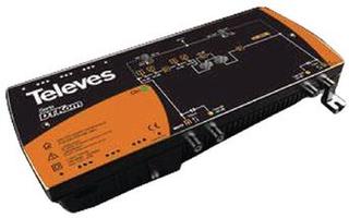 Televés CATV Förstärkare 53 dB 47-862 MHz 2 Utgångar