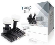 König LNB Twin Monoblock 6.0° 1.1 dB