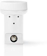 Nedis LNB | Enda | Utgångsanslutning: 1x F-kontakt | Brusfaktor omfång: 0.90 dB | Omvandlingsförstärkning: 53-65 dB | Vit