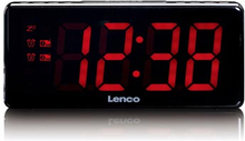 Klockradio Lenco CR-30 Svart / Stora siffror