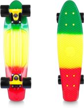 Worker Pennyboard Sunbow 22, green/yellow/red, Worker Pennyboard