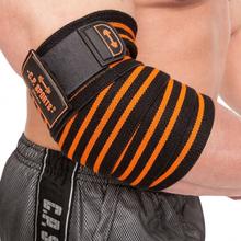 C.P. Sports Elbow Wraps Pro, black/orange, C.P. Sports Knä & Handledslindor