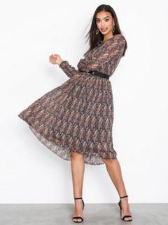 Neo Noir Addison Printed Dress
