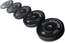 Master Fitness Bumperplate, svart, 20 kg Viktbelastning