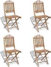 vidaXL Kokoontaitettavat ulkotuolit 4 kpl bambu