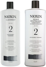 Nioxin System 2 Cleanser 1000ml & Scalp Therapy Revitalizing Conditioner 1000ml