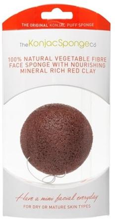 Konjac Sponge Premium Facial Puff French Red Clay