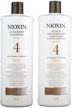 Nioxin System 4 Cleanser 1000ml & Scalp Therapy Revitalizing Conditioner 1000ml
