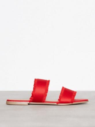 Pieces Psmio Sandal Sandaler Mörk Röd