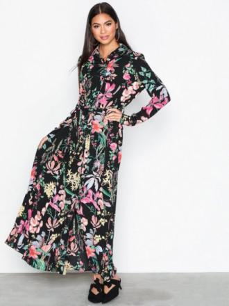 Maxikjoler - Mønstret NLY Trend Long Button Down Dress