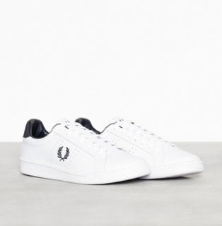 Fred Perry B721 Leather Sneakers & tøysko White