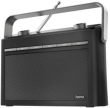HAMA Radio DAB+ FM DR50 Batteridriven Svart