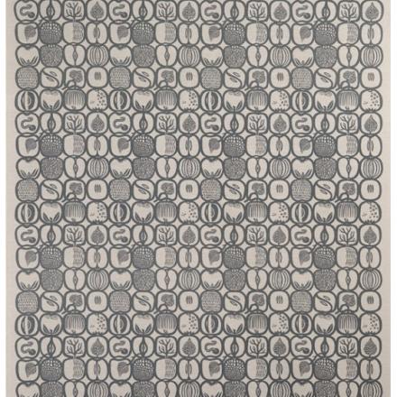 Fruktlåda stoff svart/grå