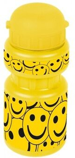 Flaska med hållare Smile300 ml juniorgul / svart