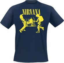Nirvana - Stage -T-skjorte - mørkeblå