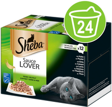 Megapack Sheba Varietäten Schälchen 24 x 85 g - Sauce Speciale