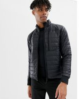 Didriksons 1913 Campo Lightweight Padded Jacket in Black - Black