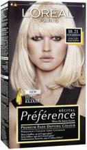 L'Oréal Paris Préferénce Récital hair color 10,21