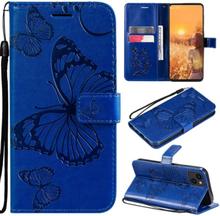 Fjärilar Plånboksfodral Iphone 13 Mini - Blå