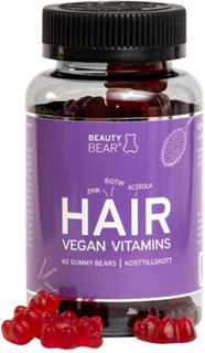 BeautyBear Hair Vitamins Vegan 60 st