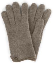 Handschuh aus gewalkter Schurwolle Roeckl beige