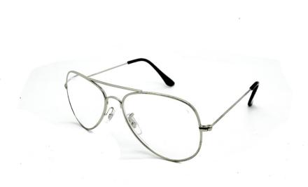 Cavok Läsglasögon Pilot med grad A lins 1.0, Silver